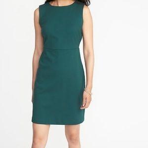 Sleeveless Ponte-Knit Sheath Dress